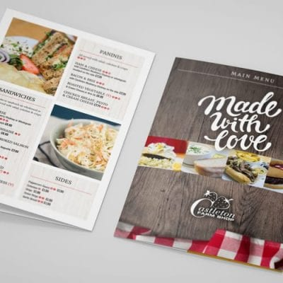 Graphic design and marketing services for Aberdeen based Castleton Farm Shop and cafe.