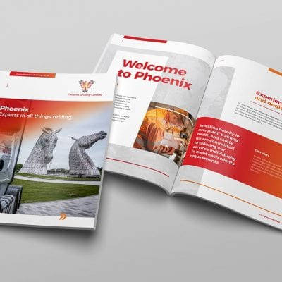 Brochure design and publishing – Phoenix Drilling.