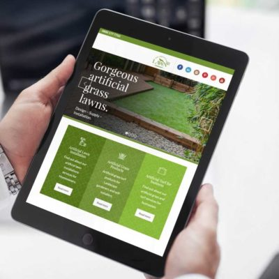 Website design and brand development for West Lothian based – The Artificial Lawn Company.