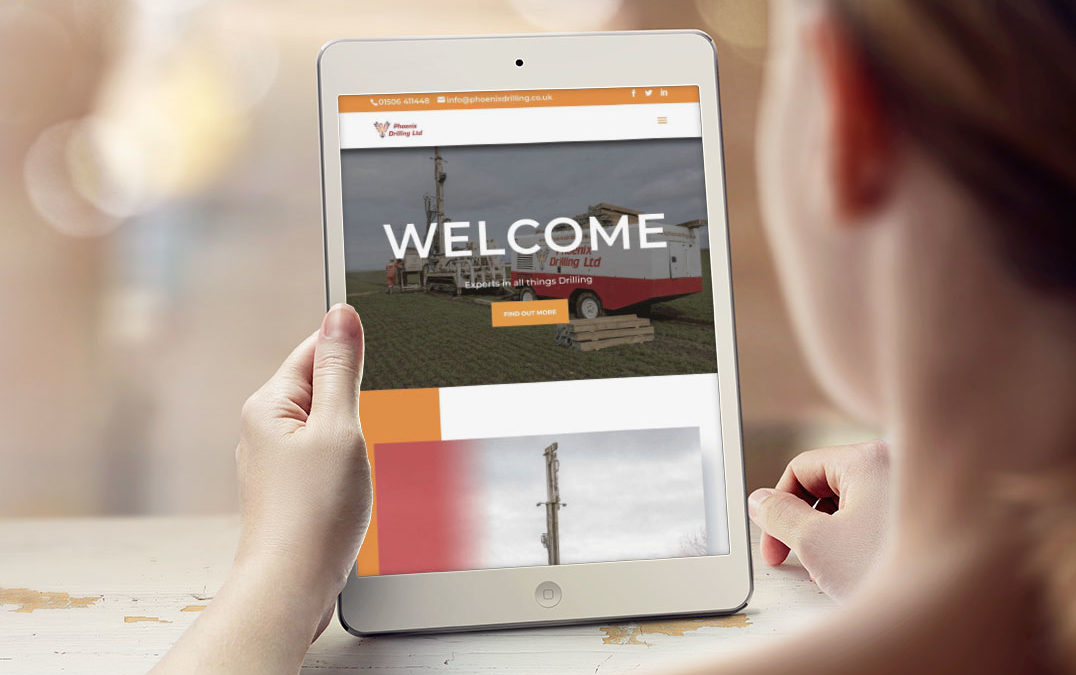 A creative website design for West Lothian based Phoenix Drilling.